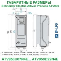 Габаритные размеры Schneider Electric Altivar Process ATV 900