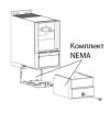 Монтажный набор для повышения уровня защиты до Nema Type 1 для корпуса M1. Код заказа 132B0103