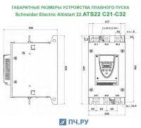 Габариты ATS22 C21 - C32