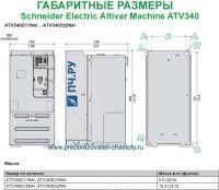 Габаритные размеры Schneider Electric Altivar Machine ATV340