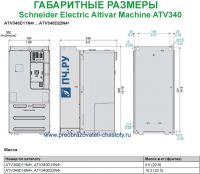 Габаритные размеры Schneider Electric Altivar Machine ATV340