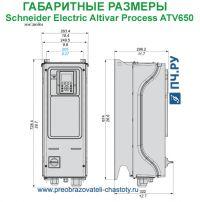Габаритные размеры Schneider Electric Altivar Process ATV 650