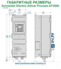 Габаритные размеры Schneider Electric Altivar Process ATV 650