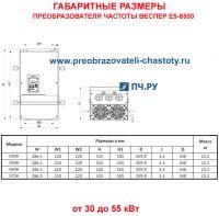 Габаритные размеры Веспер Е5-8500