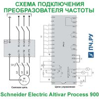 Схема подключения Schneider Electric Altivar Process ATV 900