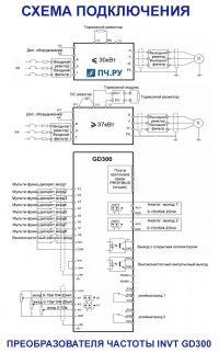 Схема подключения INVT GD300