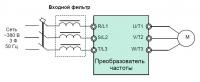 Схема подлючения входного фильтра
