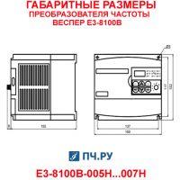 Габариты преобразователя частоты Веспер Е3-8100В