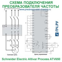 Схема подключения Schneider Electric Altivar Process ATV650